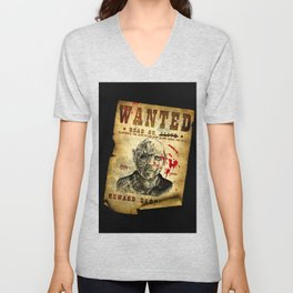 Wanted ghoul zombie mutant undead Unisex V-Neck