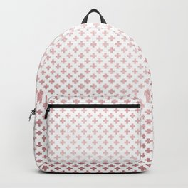 Simply Crosses in Rose Gold Sunset Backpack