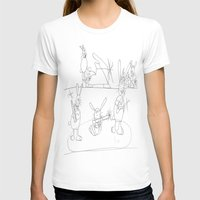 rabbits T-shirts featuring Musical Rabbits by Ryan van Gogh