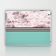 Pink Marble + Blue Floor Laptop & iPad Skin