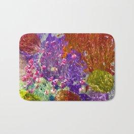 Painted Fields of Flowers Bath Mat