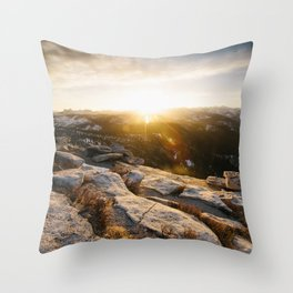 Clouds Rest Sunrise Throw Pillow