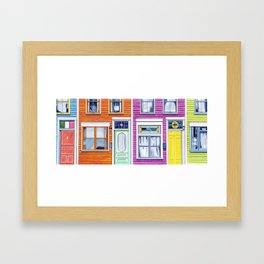 Jelly Bean Row, 2016 Framed Art Print
