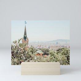 A stroll through Barcelona Mini Art Print