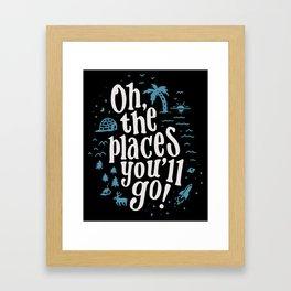 Places You'll Go Framed Art Print