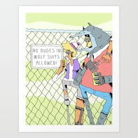 No Wolf Suits Allowed Art Print