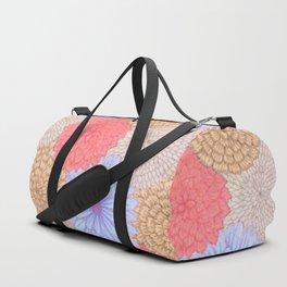 Watercolor Bouquet - Periwinkle Peach Duffle Bag