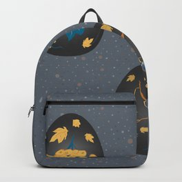 Collection Of Colorful Happy Easter Eggs Backpack