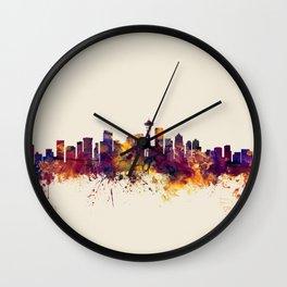 Seattle Washington Skyline Wall Clock