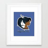 sagittarius Framed Art Prints featuring Sagittarius  by Jo Sharp