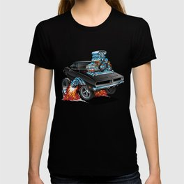 Classic 69 American Muscle Car Cartoon T-shirt