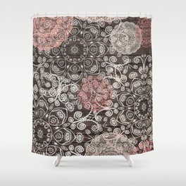 HAPPY GO LUCKY - BOHO WOOD Shower Curtain