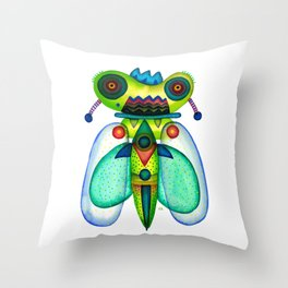 Dragonfly Moth Throw Pillow
