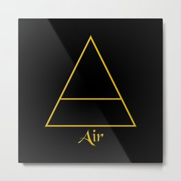 Air Element Symbol Metal Print