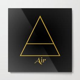 Air Element Symbol Metal Print