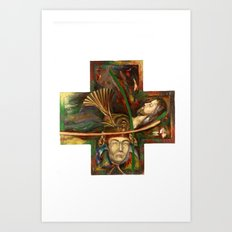 Religion (original) Art Print
