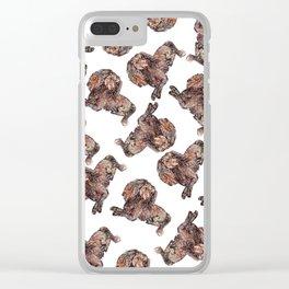 Dachshund Dog Clear iPhone Case
