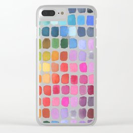 Watercolor Swatches Clear iPhone Case