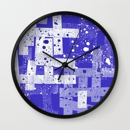 Abstract in blue Wall Clock