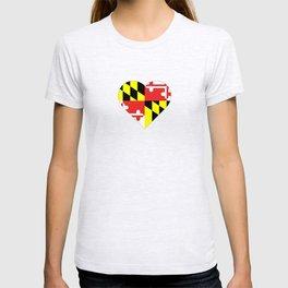 Maryland Flag Heart II T-shirt