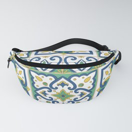 Italian Tile Pattern – Sicilian ceramic from Caltagirone Fanny Pack