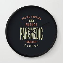 Future Paramedic Wall Clock