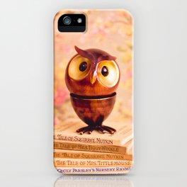 Bookish owl iPhone Case