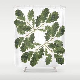 Oak leaf ensemble Shower Curtain
