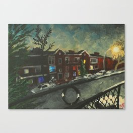Bloomfield at Night Canvas Print