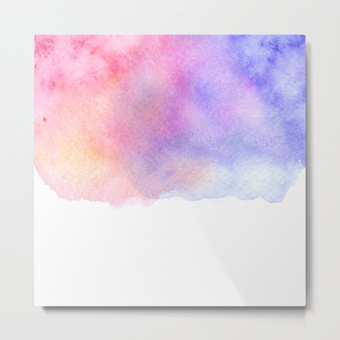 Watercolour Metal Print