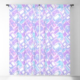 Video Game Controllers in Pastel Colors Blackout Curtain