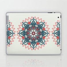 Coral & Teal Tangle Medallion Laptop & iPad Skin
