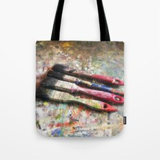 Four Paintbrushes Tote Bag
