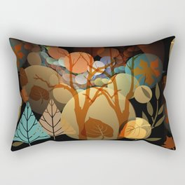 Trees and leaves in sun spots Rectangular Pillow