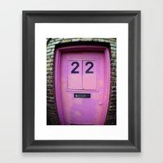 Pink Door Framed Art Print