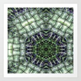 Watery Orbitals Mandala 3 Art Print