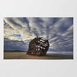 Peter Iredale Shipwreck Sunrise Rug