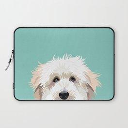 Golden Doodle pet portrait art print and dog gifts Laptop Sleeve