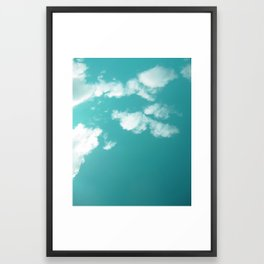 Teal kissed sky. Framed Art Print