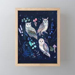 Night Owls Framed Mini Art Print