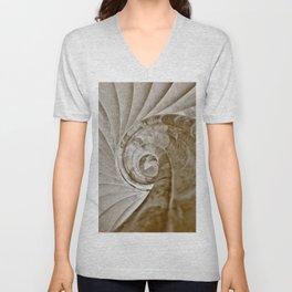 Sand stone spiral staircase 13 Unisex V-Neck