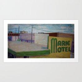 Panama City Marie Motel Art Print