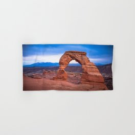 Delicate - Delicate Arch Glows on Rainy Day in Utah Desert Hand & Bath Towel