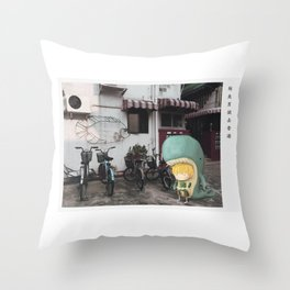 Whale Boy in Hong Kong Throw Pillow