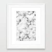 marble Framed Art Prints featuring Marble by Will Wild