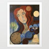 Fighting Time Art Print