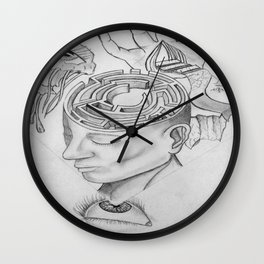 Trapped in a Surreal world Wall Clock