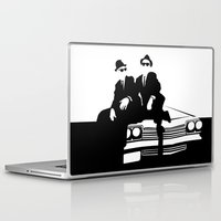 blues brothers Laptop & iPad Skins featuring Blues Brothers by Greg Koenig