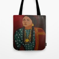 american Tote Bags featuring American  by Michael Diggs