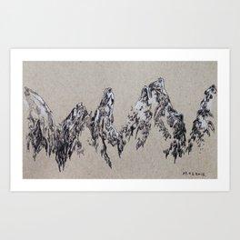 mountains (colour) Art Print